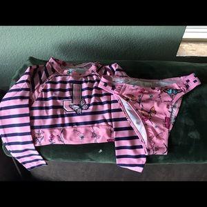 NWT! Juicy Couture Black Label Crop Rashguard Set